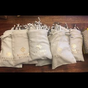 10 Kendra Scott grey dust bags 8 available